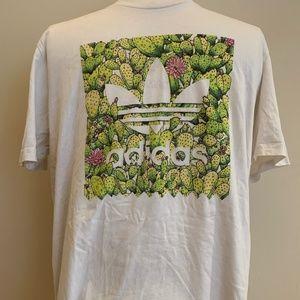 Adidas White Blackbird Cactus T-Shirt Size Large.